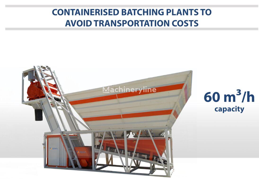 nova SEMIX Compact Concrete Batching Plant 60 m³/h Containerised betonara