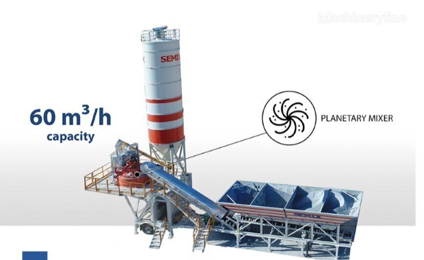 nova SEMIX Mobile 60S4 Concrete Mixing Plant betonara