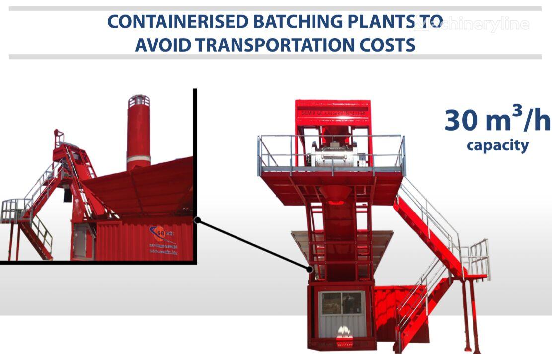 nova SEMIX SEMIX Compact Concrete Batching Plant 30 m³/h Containerised betonara