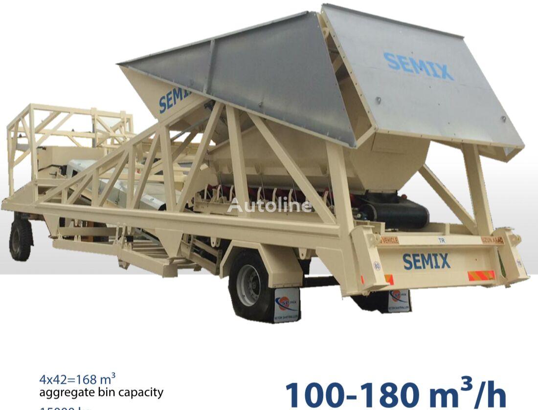 SEMIX SEMIX Dry Type Mobile Concrete Batching Plant betonara