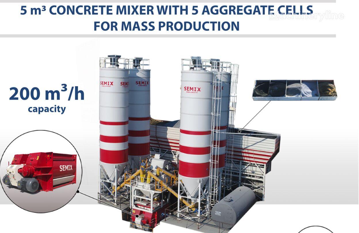 nova SEMIX SEMIX Stationary Concrete Batching Plant 200 m³/h betonara