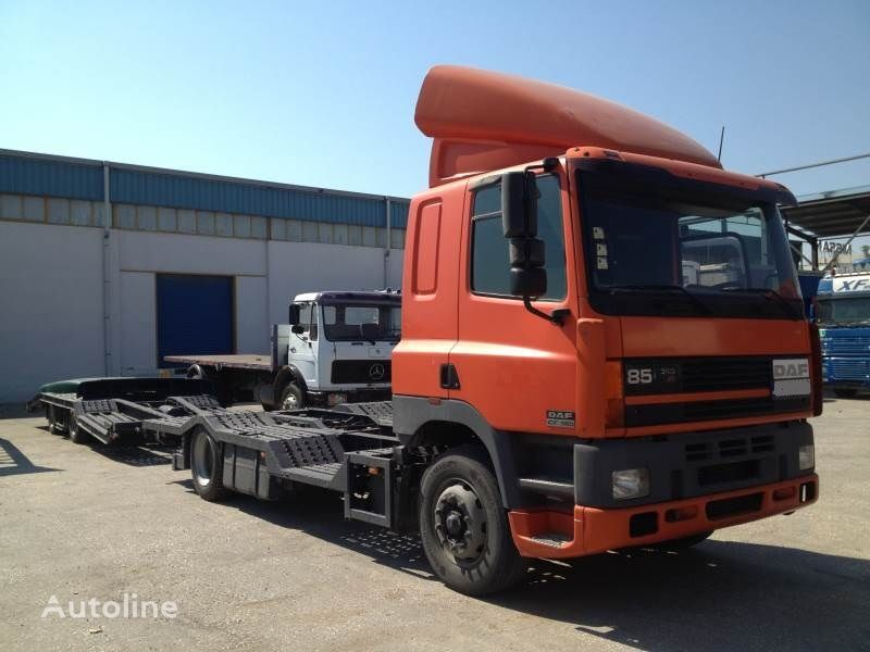 DAF CF85.380 ATI EURO2 TRUCK / TRACTOR TRANSPORT + TANDEM autotransporter + prikolica autotransportera