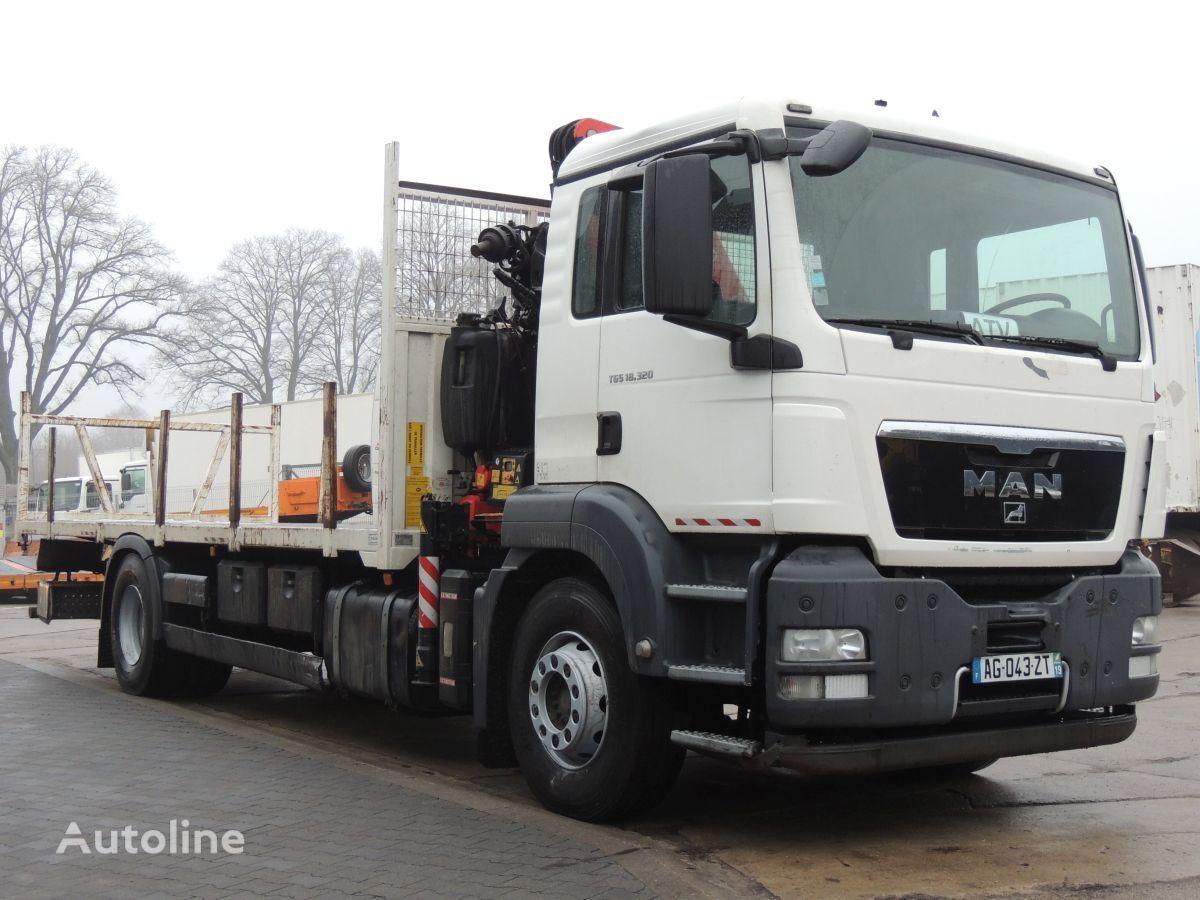 MAN TGS 18.320 platforma + Żuraw Fassi F130 kamion platforma