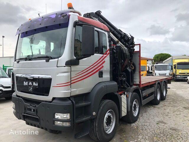 MAN TGS 41.480 8X4 HIAB 7+4 kamion platforma