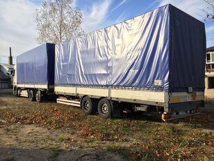 DAF XF95.430 kamion s ceradom + prikolica sa ceradom