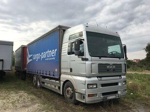 MAN TGA 26.480 6x2, 7.3m pritsche kamion s ceradom