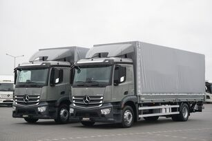 MERCEDES-BENZ ANTOS / 1833 / ACC / E 6 / SKRZYNIA + WINDA / ŁAD. 8730 KG / 18  kamion s ceradom
