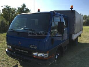 MITSUBISHI CANTER DOKA P+P 4m-es platóval kamion s ceradom