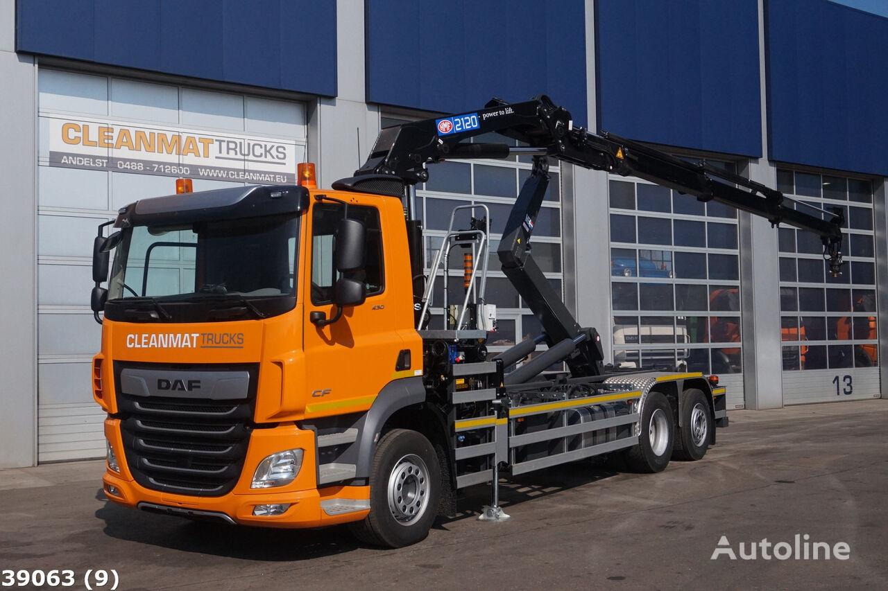 DAF FAN CF 430 HMF 21 ton/meter laadkraan kamion s kukom