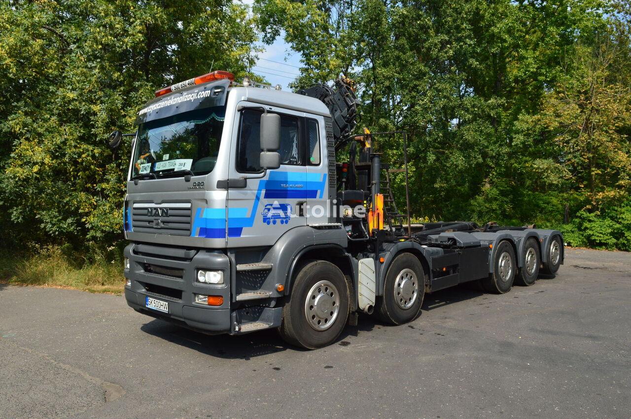 MAN TGA 41.430 10x4 MEILLER 20.70 HIAB XS 166-4 HI PRO DUO kamion s kukom