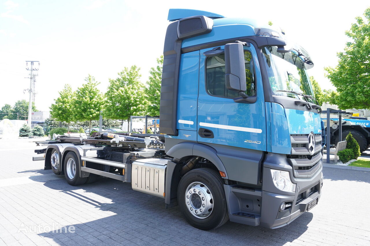 MERCEDES-BENZ Actros 2540, E6, 6X2, NEW HYVA 20T HOOK, Retarder kamion s kukom