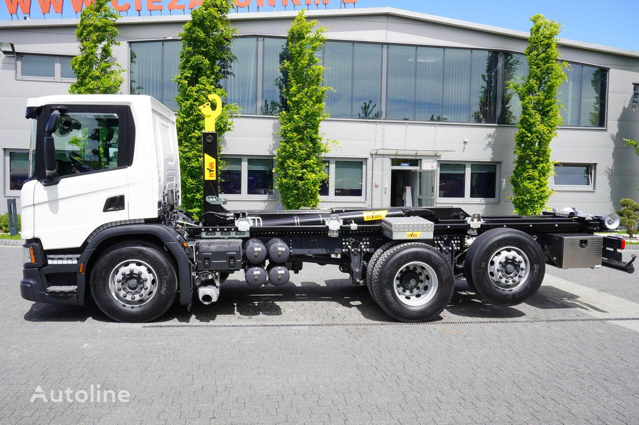 SCANIA P410 , E6 , 6X2 , 60k km , NEW HOOK 20T , steer / lift axle , Lo kamion s kukom