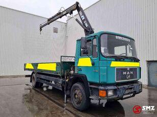 MAN 18.232 lames/hiab-2 kamion s ravnom platformom