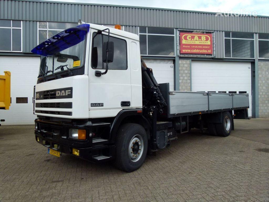DAF 95.350 - 4x2 - Crane Pesci kamion s ravnom platformom