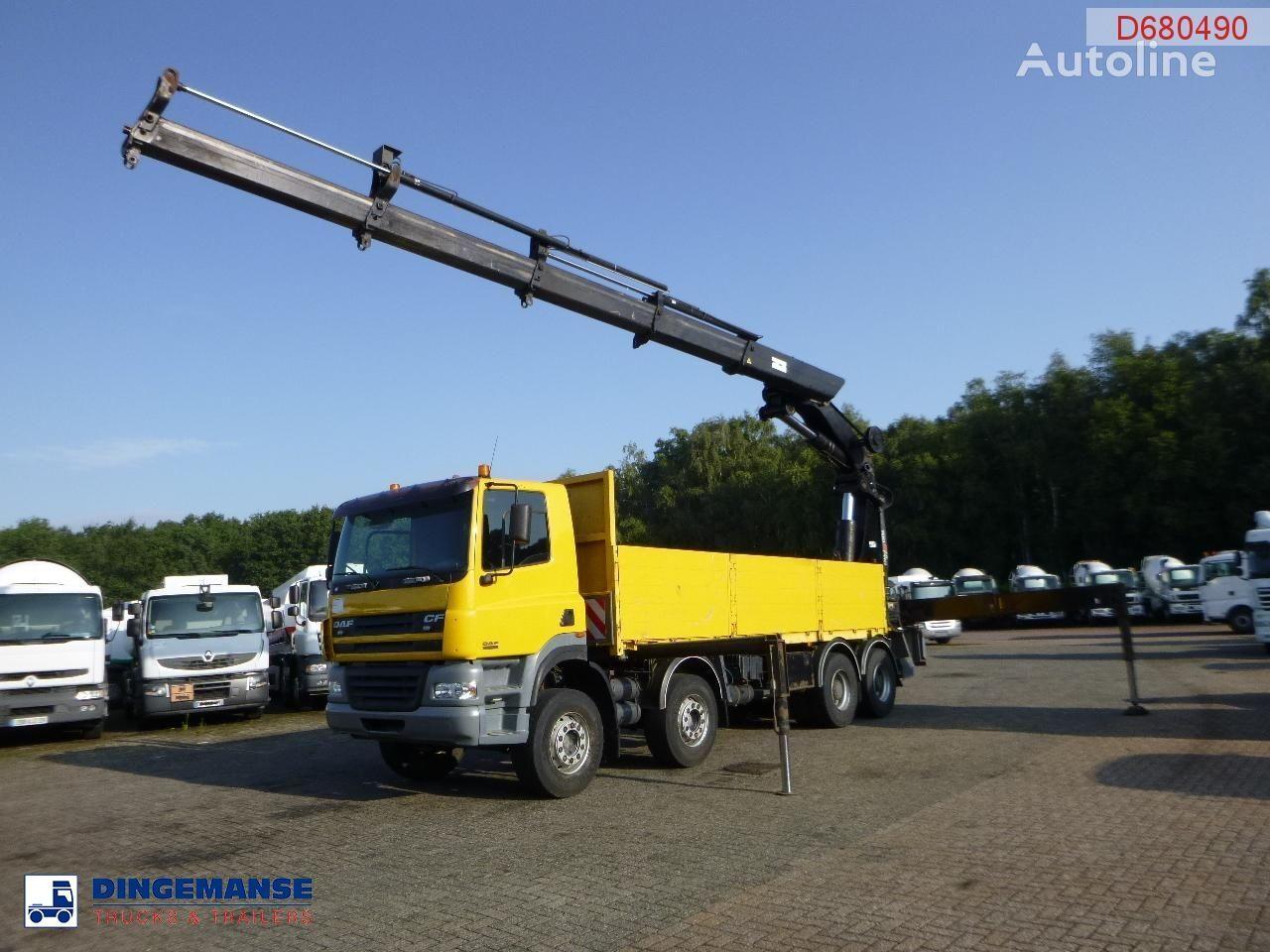 DAF CF 85.480 8x4 + Hiab 700 EP-4 Hipro kamion s ravnom platformom