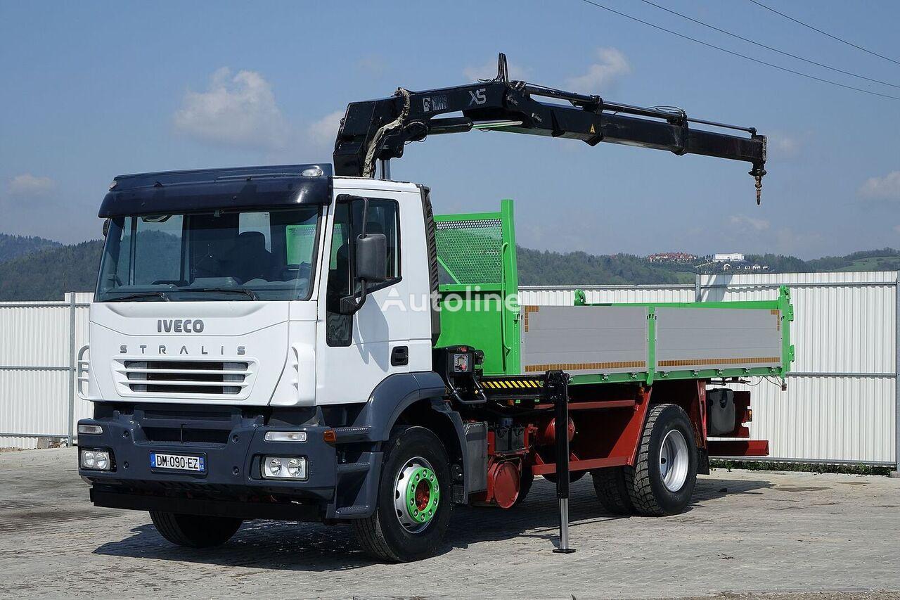 IVECO Stralis 310 Kipper 5,30m + Kran*4x2*Topzustand! kamion s ravnom platformom