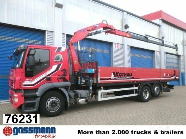 IVECO Stralis 310 mit Kran Copma 150.3 Klima/NSW kamion s ravnom platformom