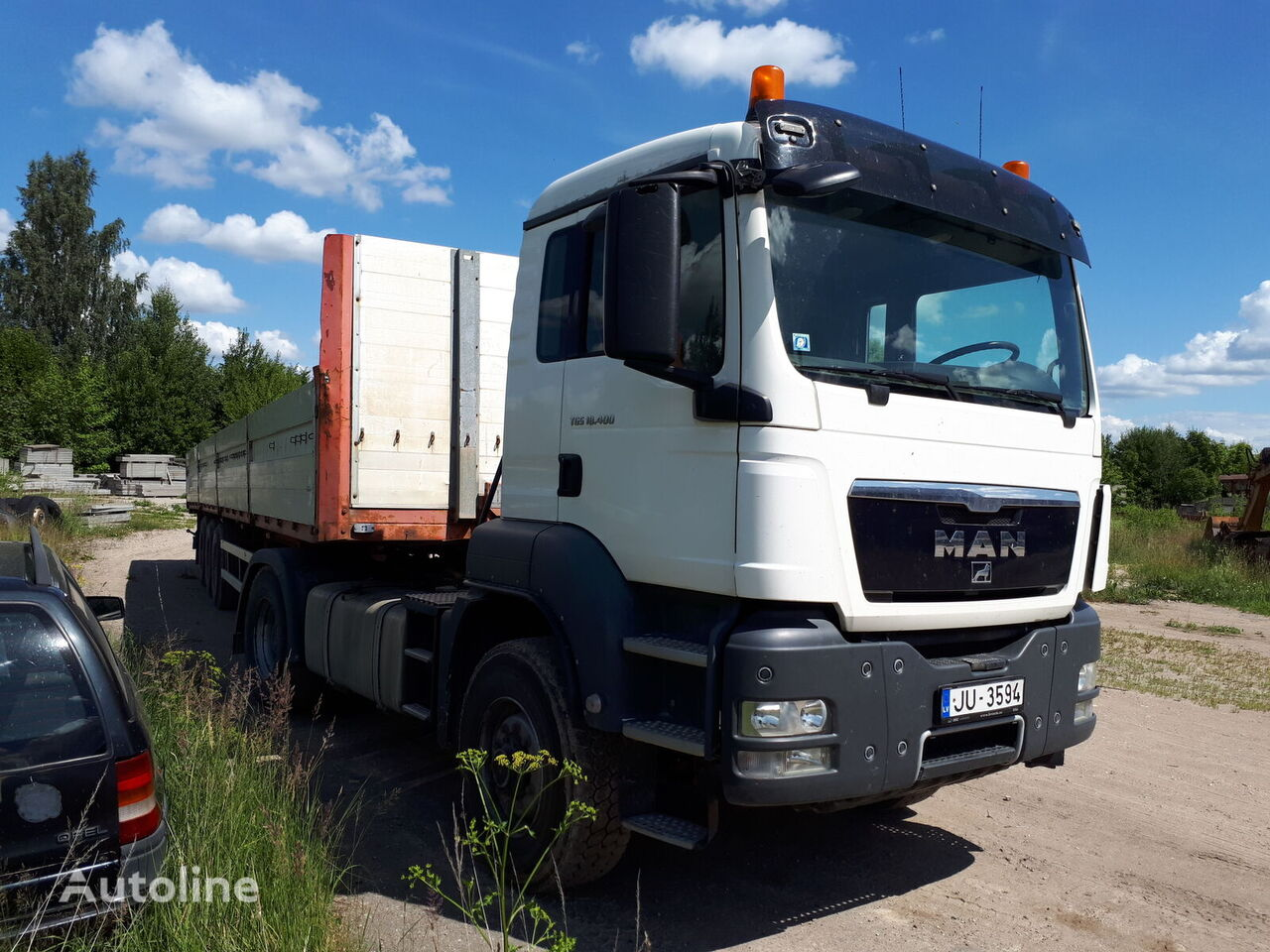 MAN TGS 18.400  kamion s ravnom platformom