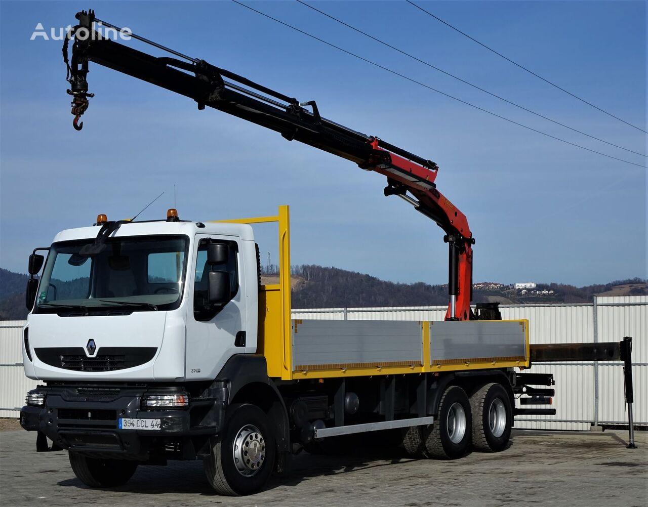 RENAULT Kerax 370 DXI* Skrzynia 6,70 m + HDS *6x4 kamion s ravnom platformom