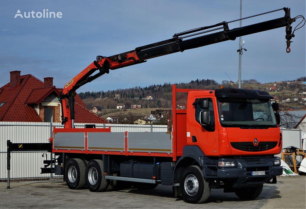 RENAULT Kerax 370DXI Pritsche 7,00m+Kran Topzustand! kamion s ravnom platformom