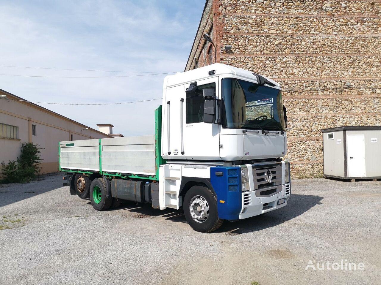 RENAULT MAGNUM 500 DXI EURO 5 RETARDER + RIMORCHIO kamion s ravnom platformom