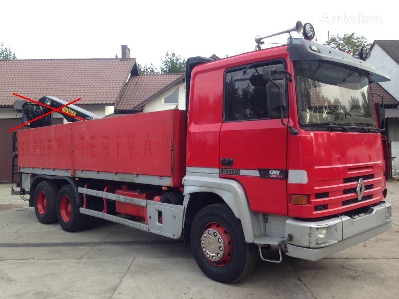 RENAULT Major 420 6x4 2 Cullase Steel/Steel (Magnum/385/390/430) kamion s ravnom platformom