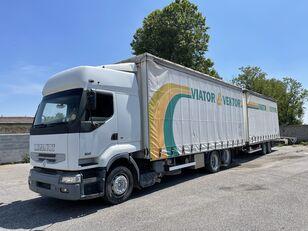 RENAULT Premium 420 kamion sa kliznom ceradom + prikolica sa kliznom ceradom