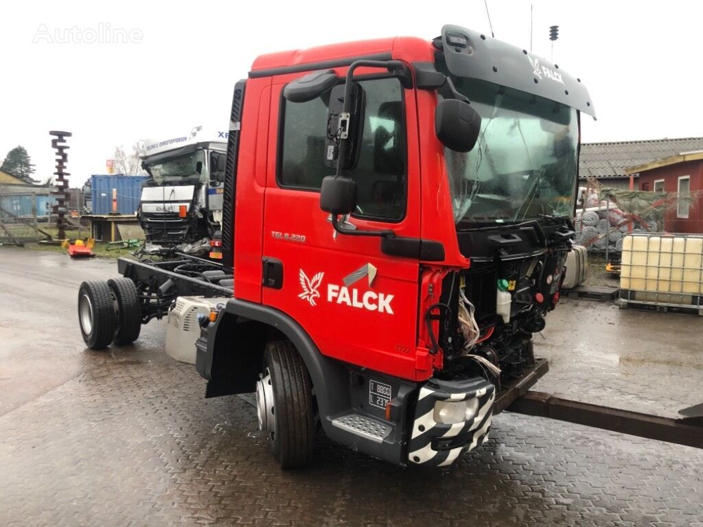 MAN TGL 8.220 EURO 6 CHASSI kamion šasija nakon udesa