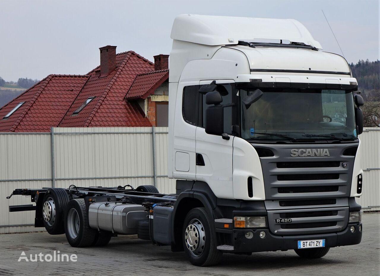 SCANIA R420 Fahrgestell 7,50 m * EURO 5 * Topzustand! kamion šasija