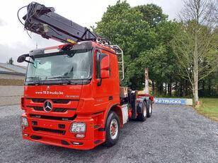 MERCEDES-BENZ Actros 3360 -6x4-hiab crane-steel suspension-alcoa kamion za prijevoz drva