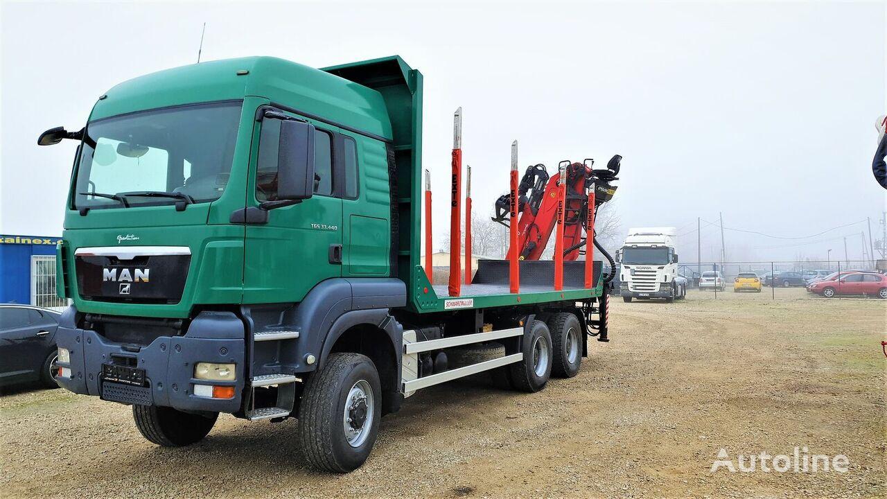MAN TGS 33.440, 6x6, Epsilon Q150Z kamion za prijevoz drva