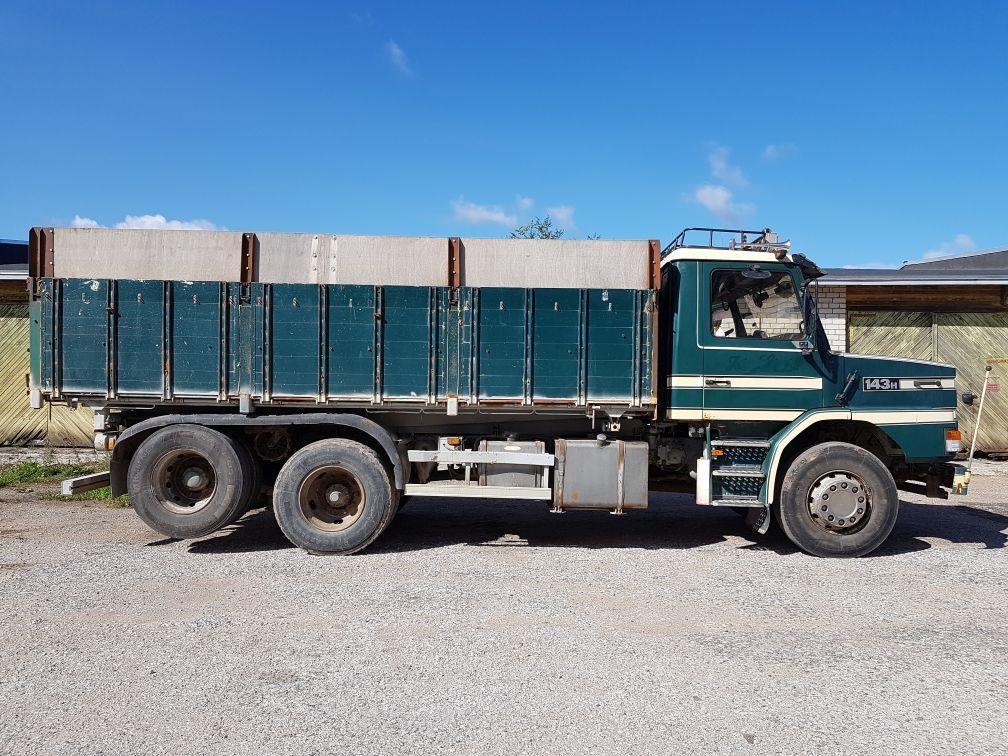SCANIA T143 6x2 tipper+ ropson (6x4) kiper