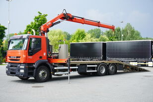 IVECO Stralis 360, EEV, 6x2, 7.8m tow truck, lift axle , CRANE HIAB ma šlep auto