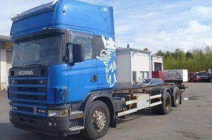 SCANIA R164GB vozilo za prijevoz kontejnera