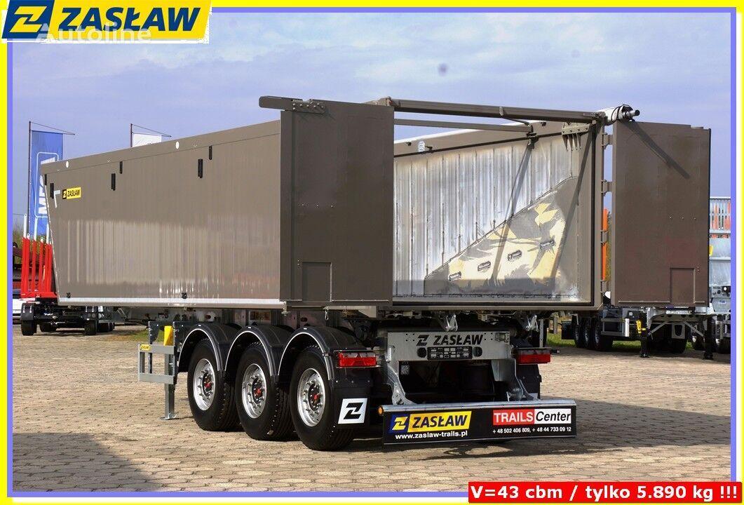 nova ZASŁAW 43 m³ tipping semi-trailer Light up 5.690 kg ! READY ! poluprikolica za prijevoz zrna