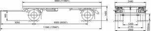 nova MAZ 892600-1025-000Р1 prikolica sa ravnom platformom
