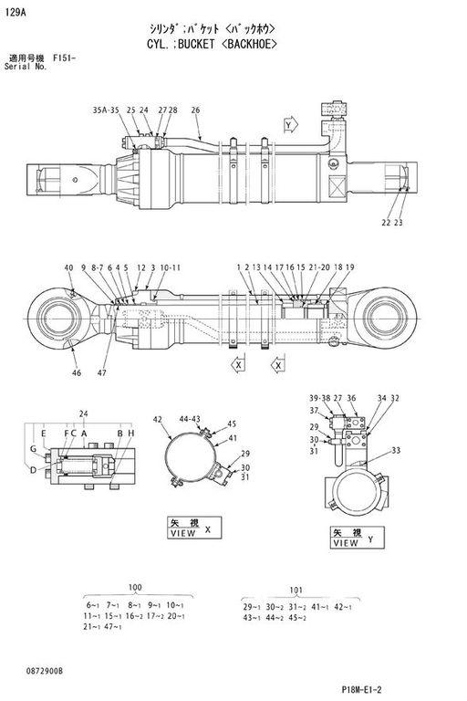 novi HITACHI BUCKET CYLINDER hidraulični cilindar za HITACHI EX3600 bagera