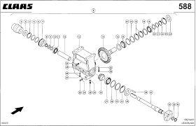 CLAAS rotora reduktor za CLAAS Lexion 760-470  kombajna